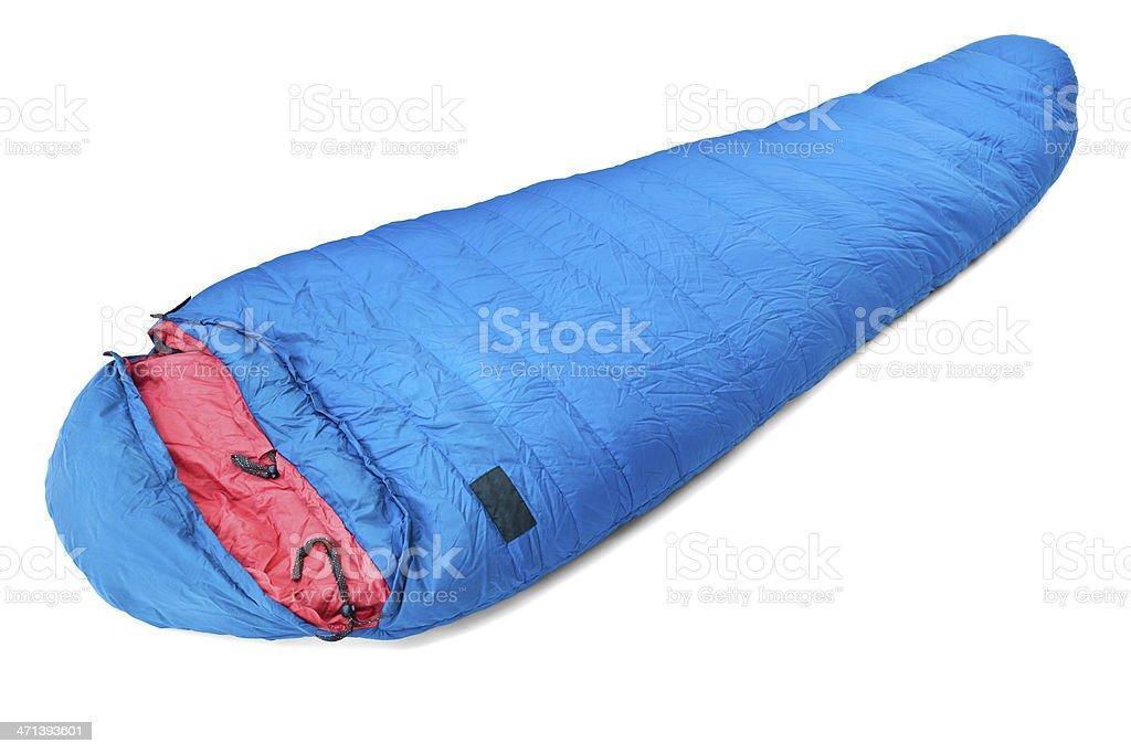 Sleeping bag stock photo