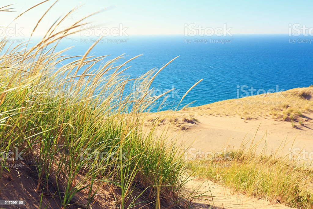 Sleeping Bear Dunes National Lakeshore in Michigan stock photo