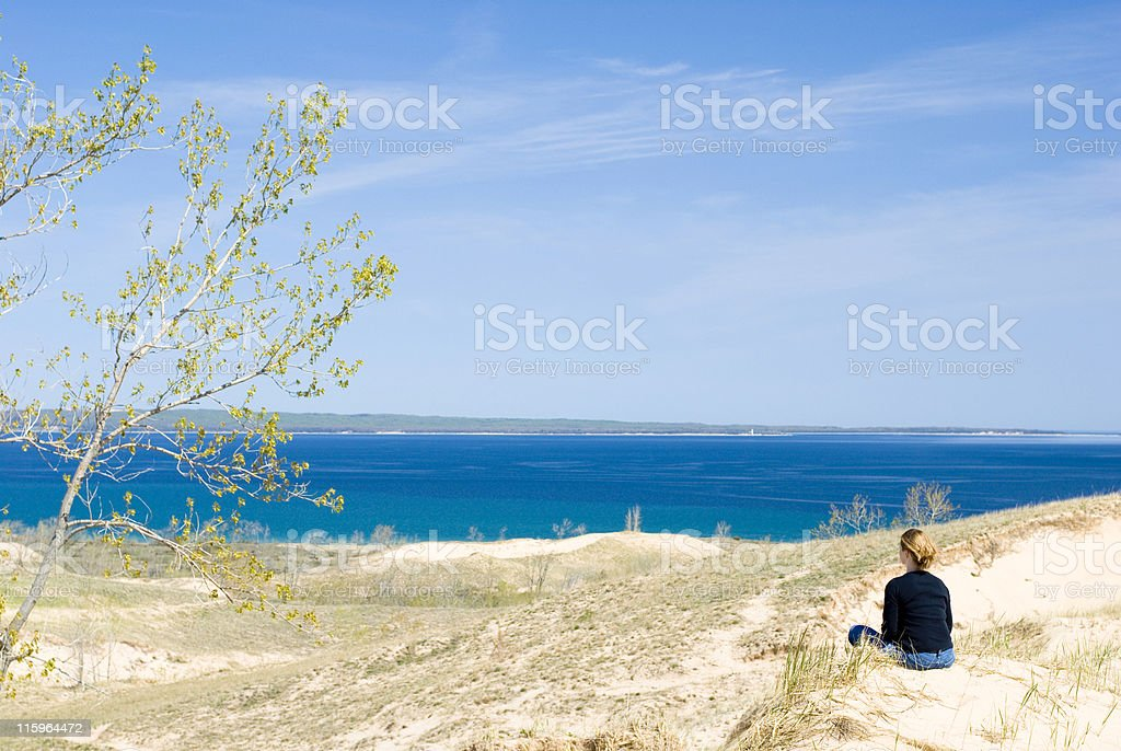 Sleeping Bear Dunes royalty-free stock photo