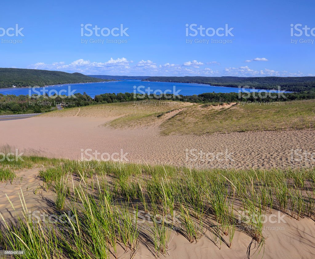 Sleeping Bear Dunes Vista stock photo