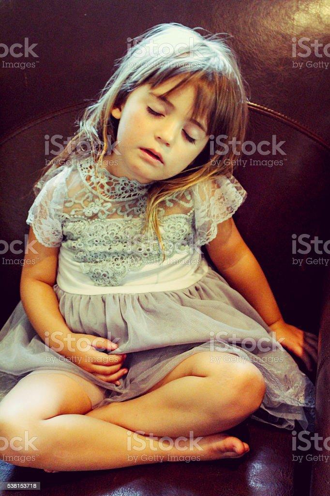 Sleeping beauty stock photo