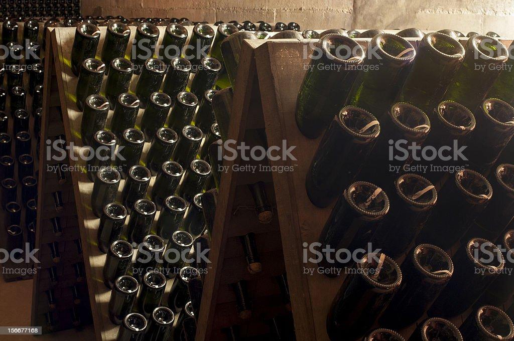 Sleeping bottles royalty-free stock photo
