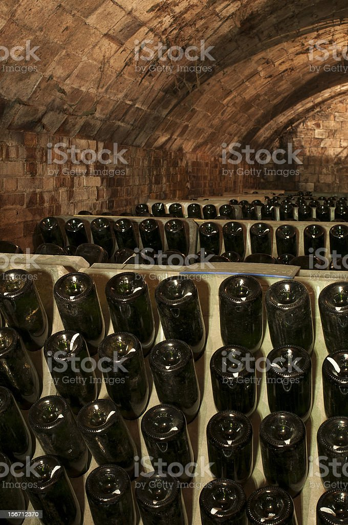 Sleeping bottles royalty-free stock photo