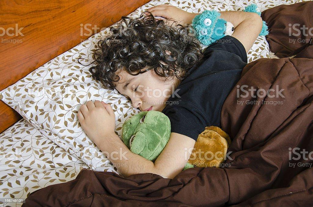 Sleeping Boy royalty-free stock photo