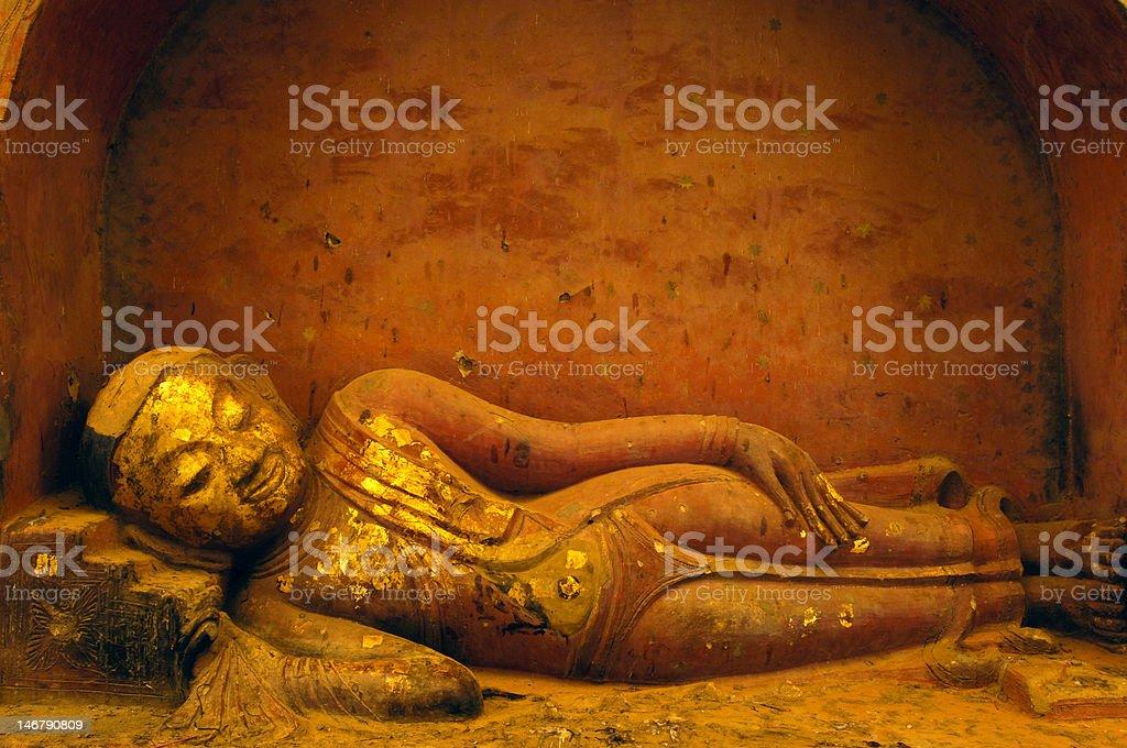 sleeping  Buddha royalty-free stock photo