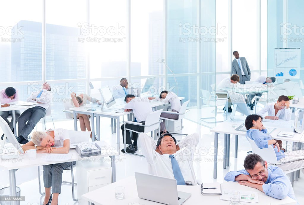 Sleeping Business People royalty-free stock photo