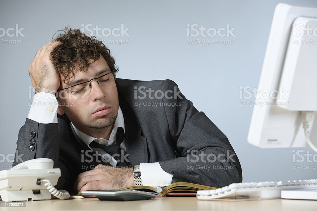 Sleeping businessman royalty-free stock photo