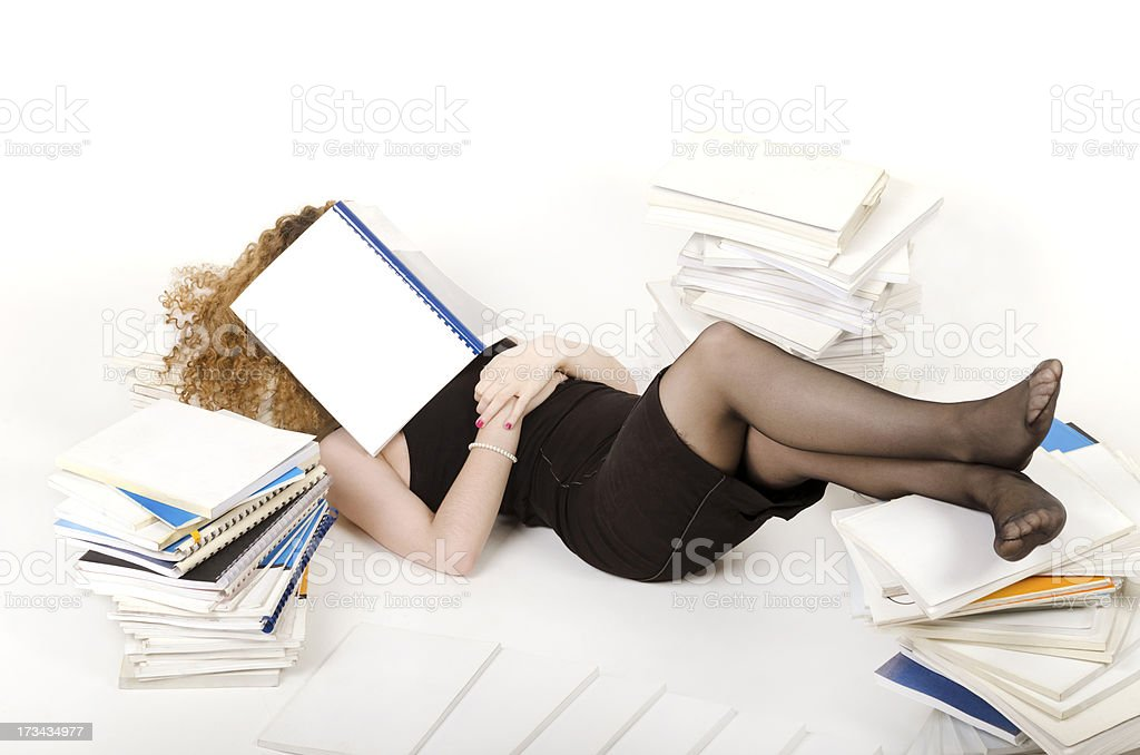 Sleeping businesswoman royalty-free stock photo