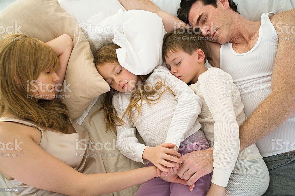 Sleeping family royalty-free stock photo