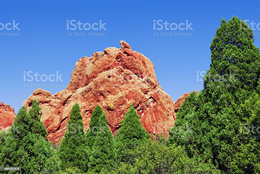 Sleeping Giant - Garden of the Gods stock photo