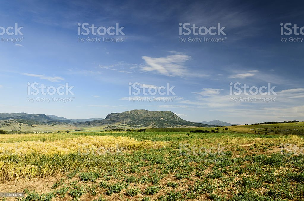 Sleeping Giant Mountain stock photo