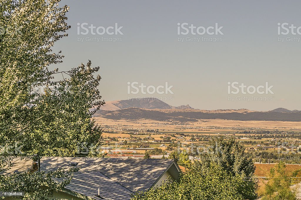 Sleeping Giant Resting Under a Clear Sky stock photo
