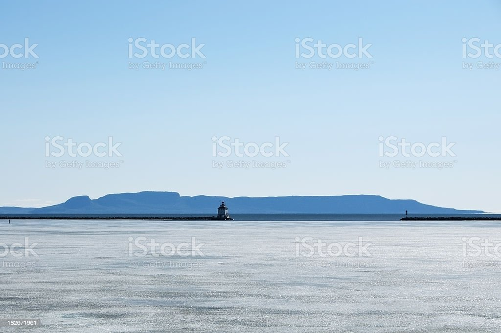 Sleeping Giant Winter stock photo