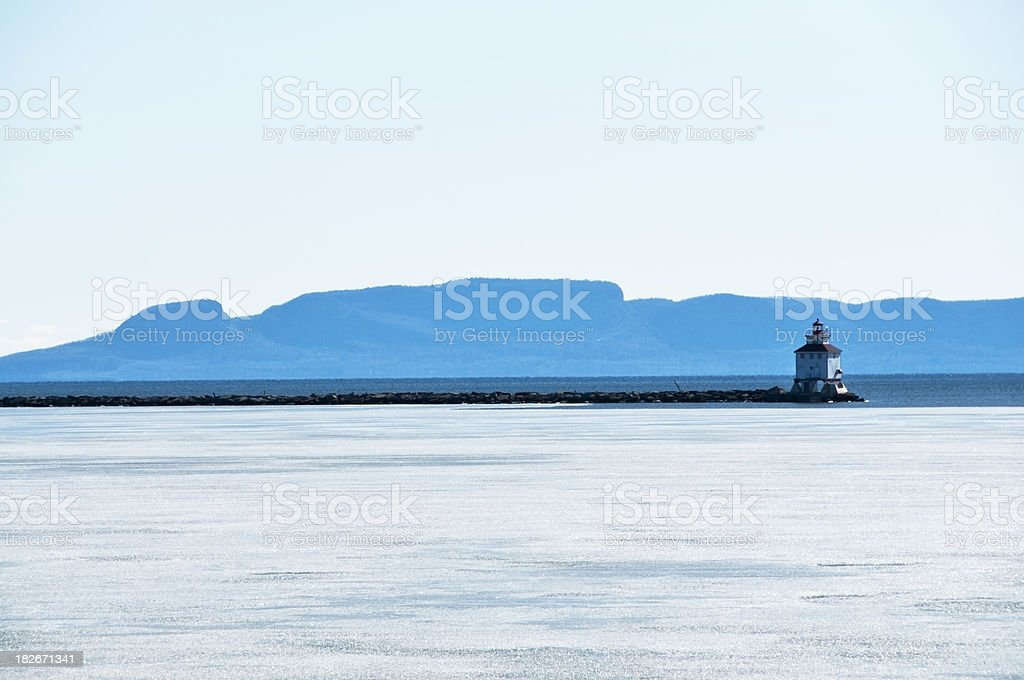 Sleeping Giant Winter View stock photo