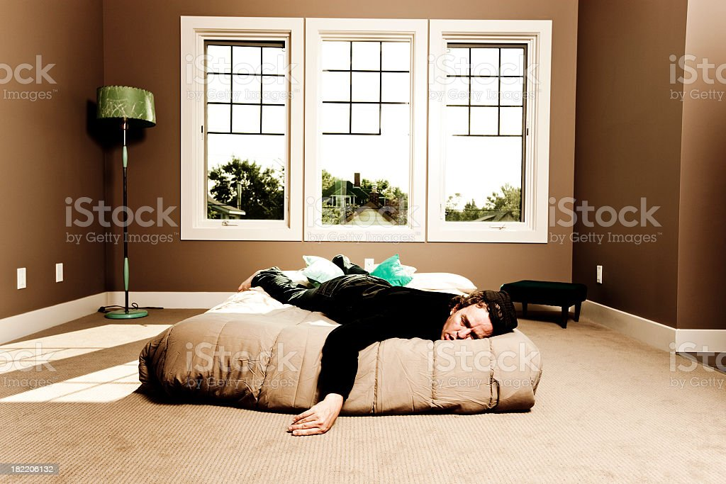 Sleeping in all day royalty-free stock photo
