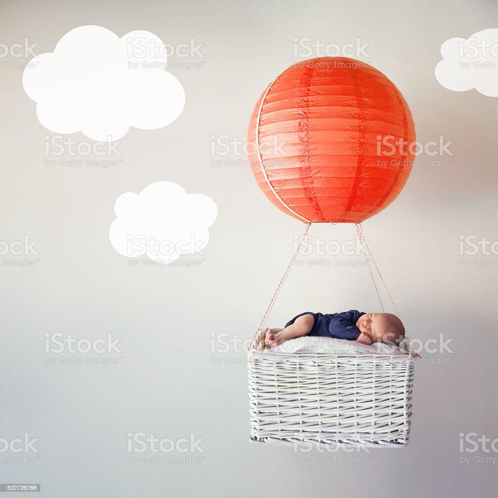 Sleeping in Dreamland stock photo