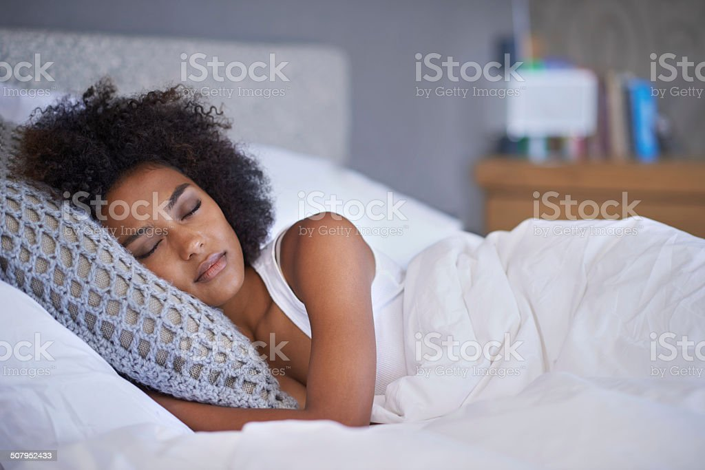 Sleeping in this weekend? stock photo