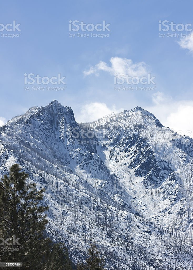 Sleeping Lady of the Central Cascades stock photo