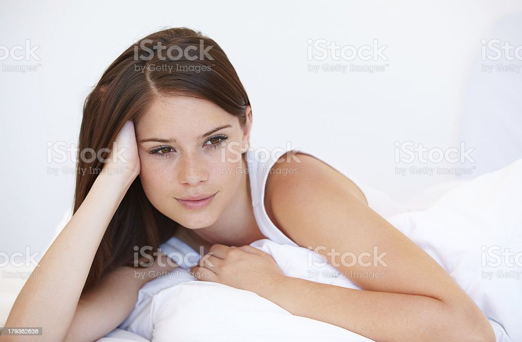 Sleeping late is awesome royalty-free stock photo