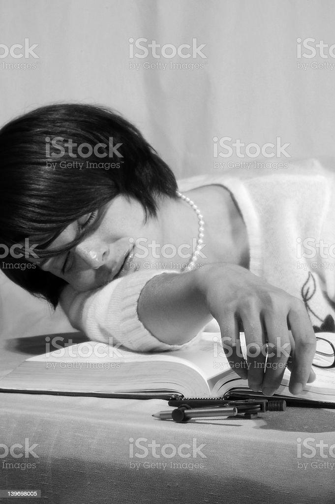 Sleeping Nerd stock photo