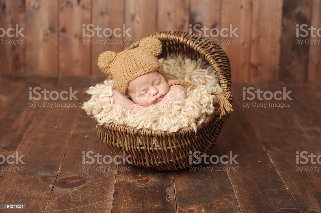 Sleeping Newborn Boy stock photo