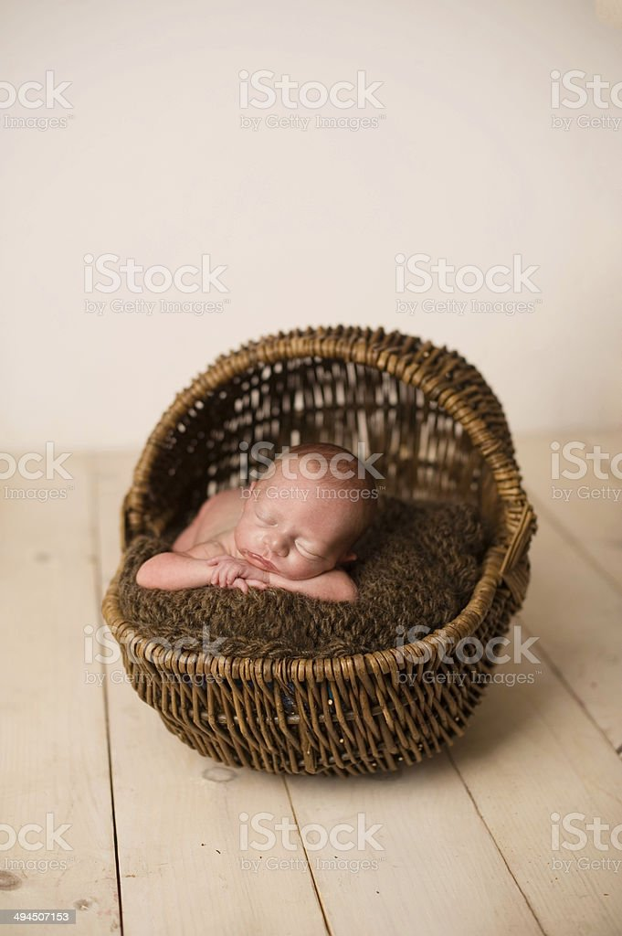 Sleeping Newborn Girl stock photo
