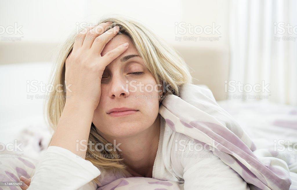 Sleeping problems stock photo