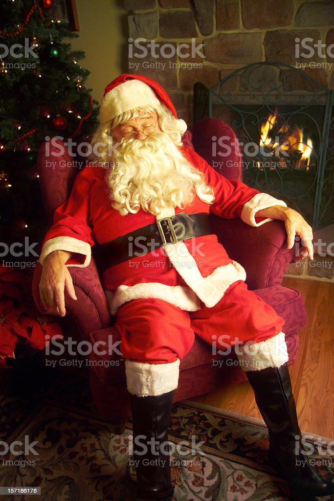 Sleeping Santa royalty-free stock photo