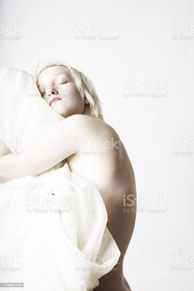 sexy Mujer durmiendo foto de stock libre de derechos