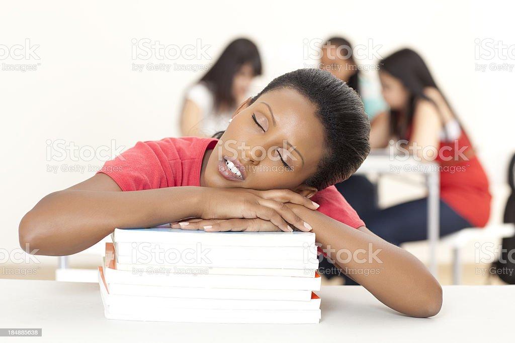 Sleeping student. royalty-free stock photo