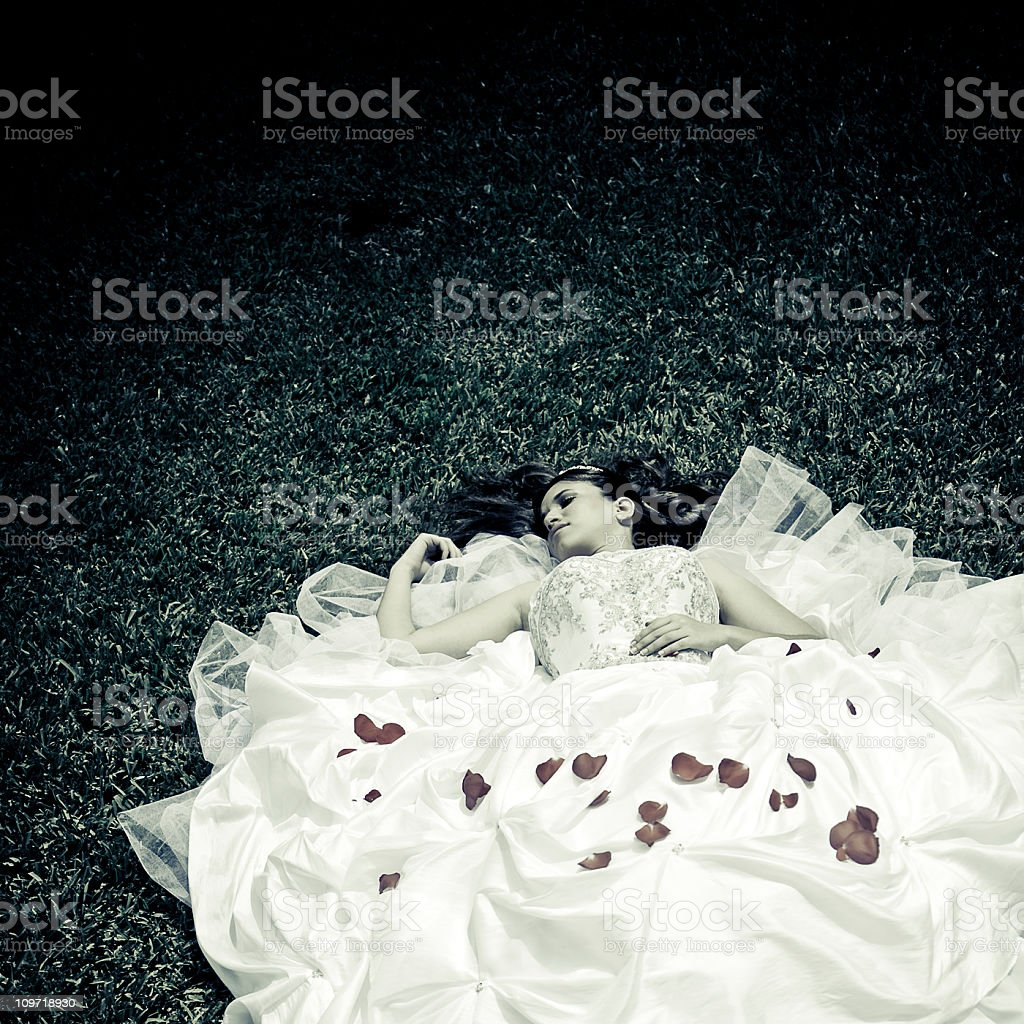sleeping teen stock photo