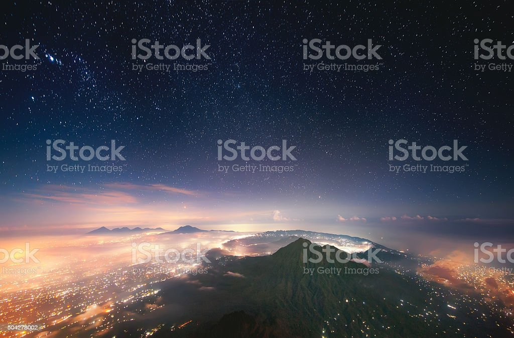 Sleeping volcano stock photo