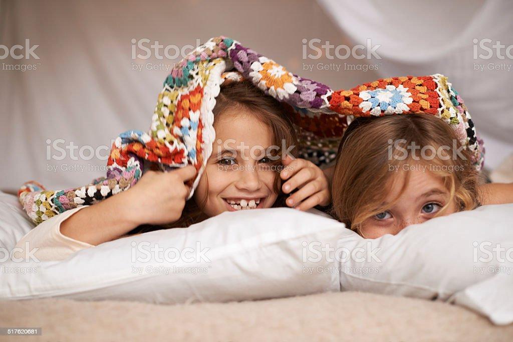 Sleepover fun stock photo