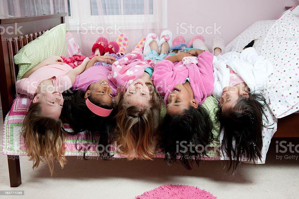 Sleepover stock photo
