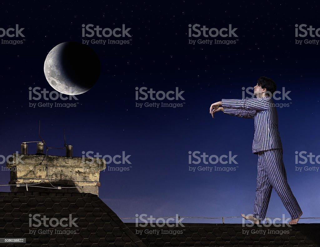 Sleepwalker stock photo
