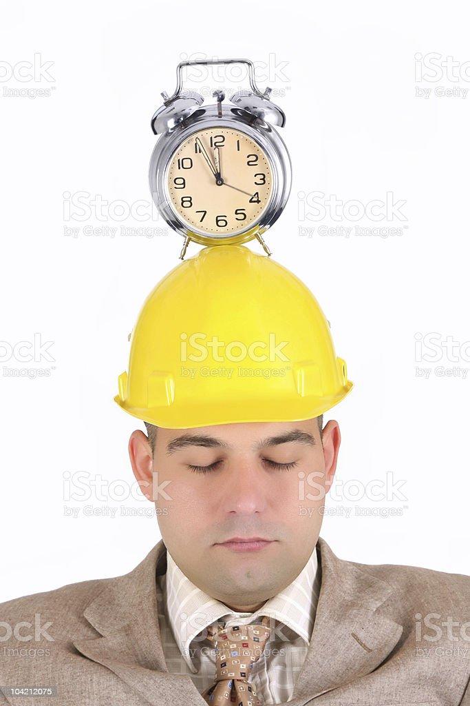 sleepy businessman royalty-free stock photo