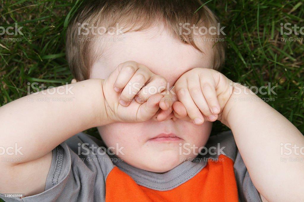 Sleepy Child stock photo