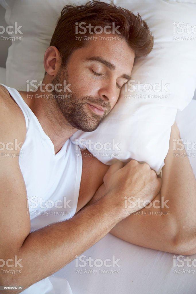 Sleepy head stock photo