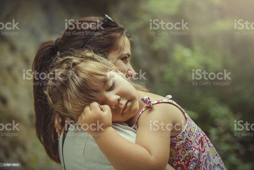 sleepy little girl royalty-free stock photo