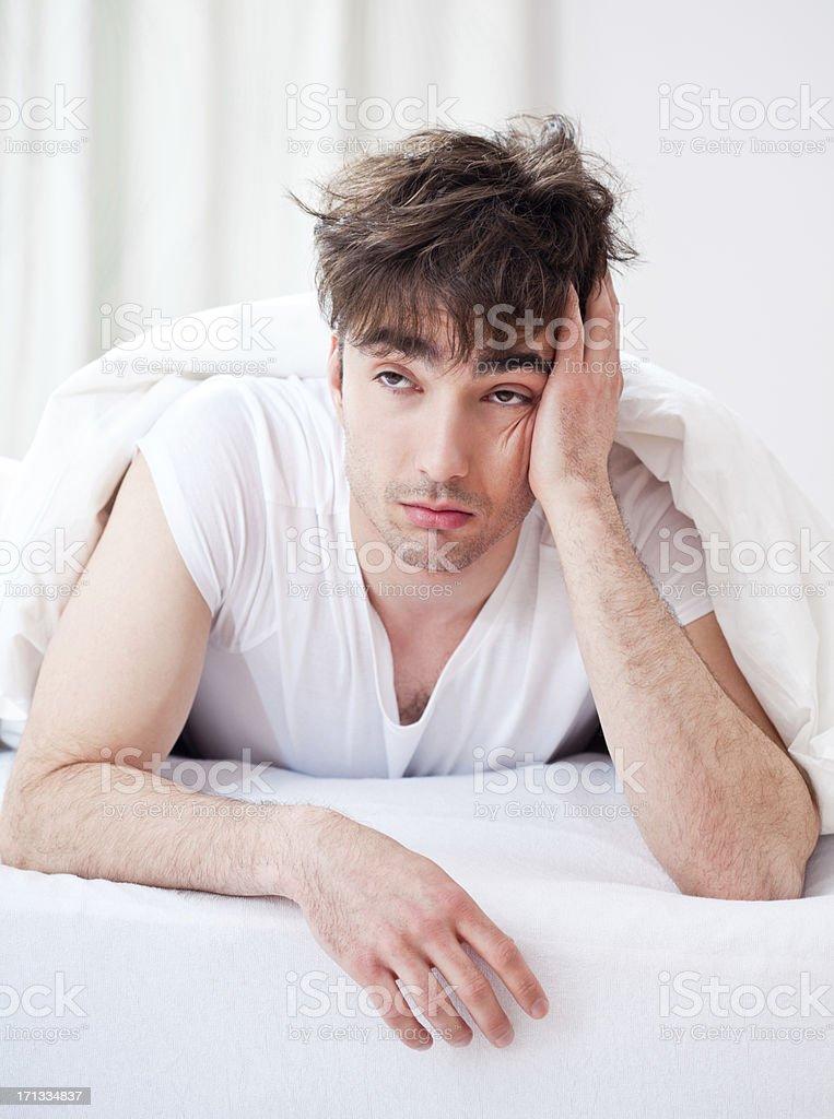Sleepy man royalty-free stock photo