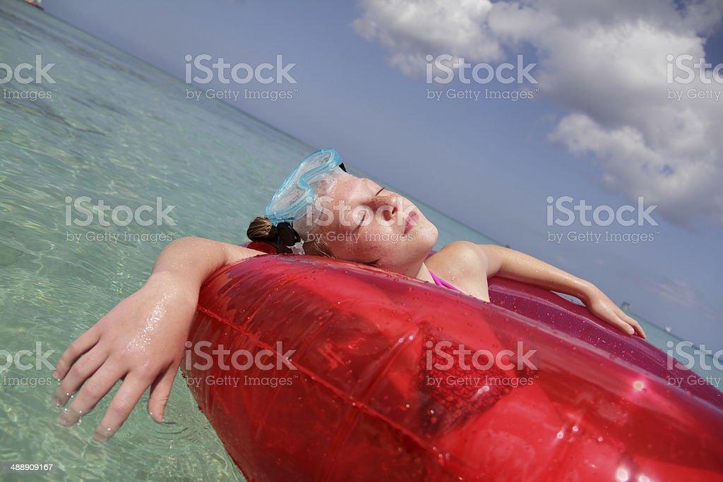 sleepy on sea stock photo