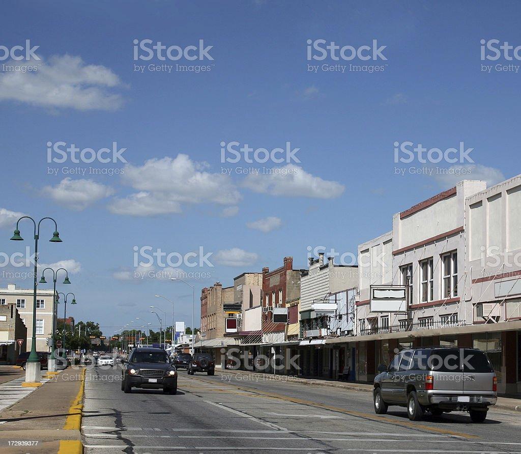sleepy small town street royalty-free stock photo