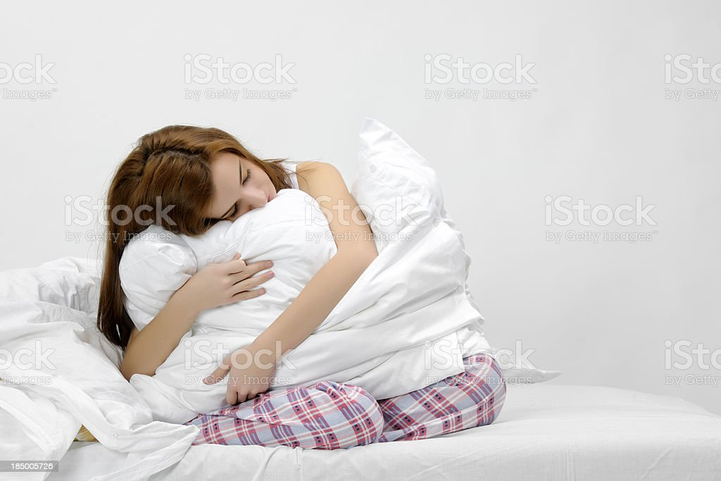 sleepy woman royalty-free stock photo