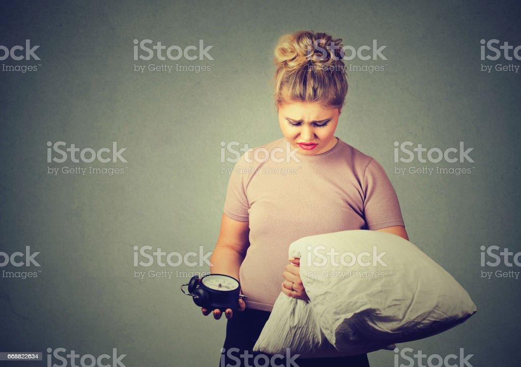Sleepy woman stock photo