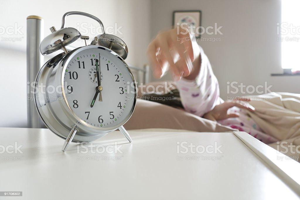 Выключение будильник с Стоковые фото Стоковая фотография