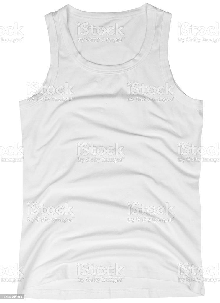 Sleeveless unisex shirt stock photo