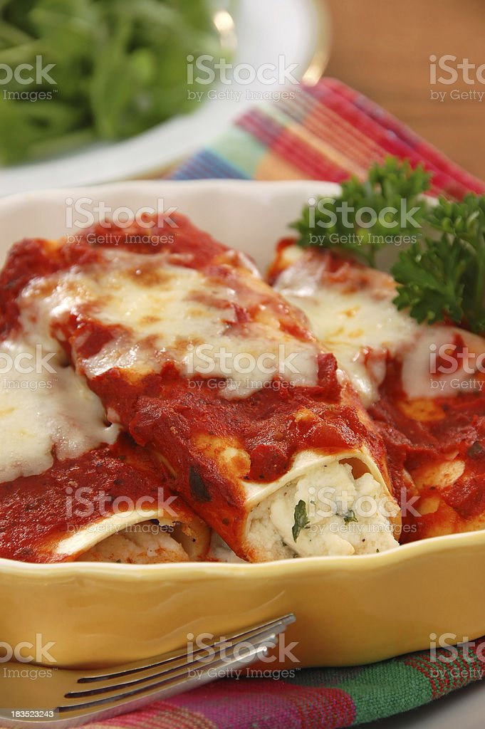 Manicotti royalty-free stock photo