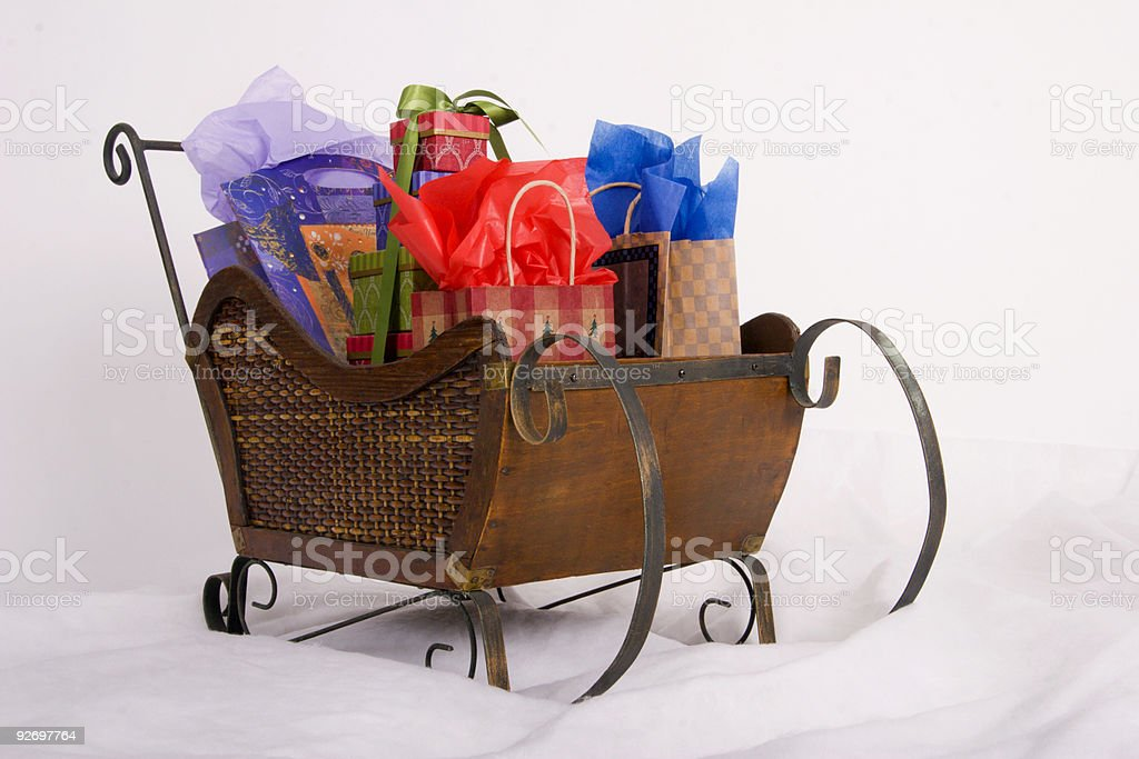 Sleigh full of gifts royalty-free stock photo