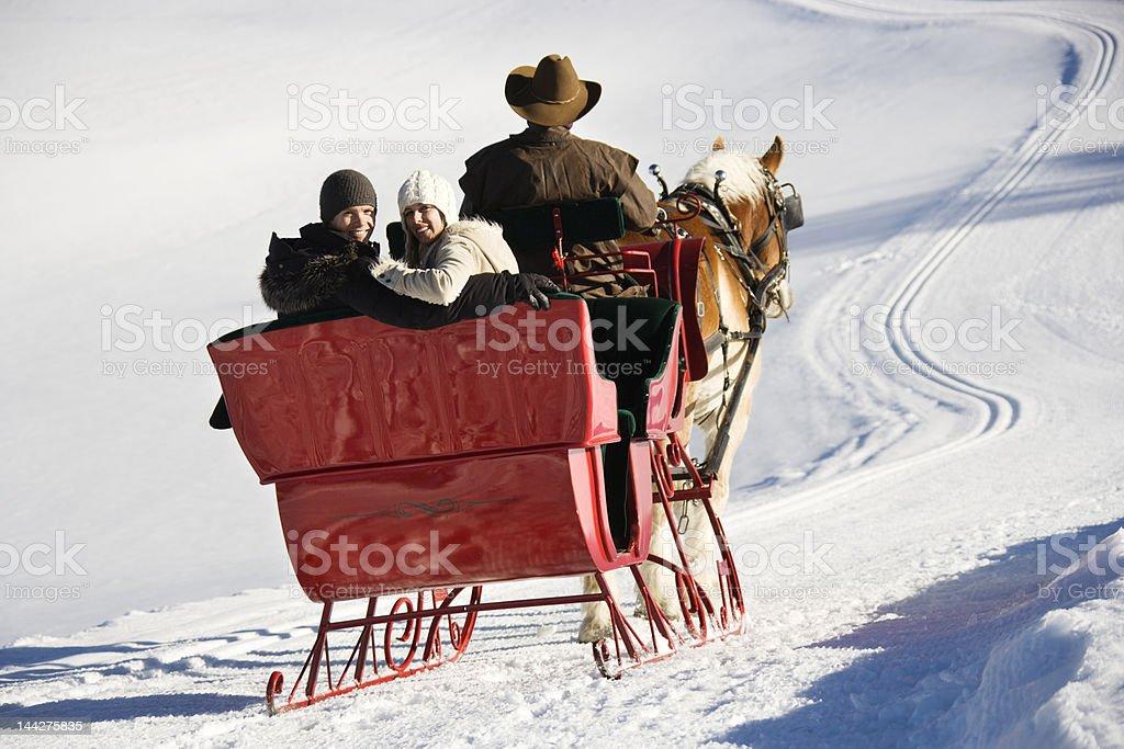 Sleigh ride. stock photo