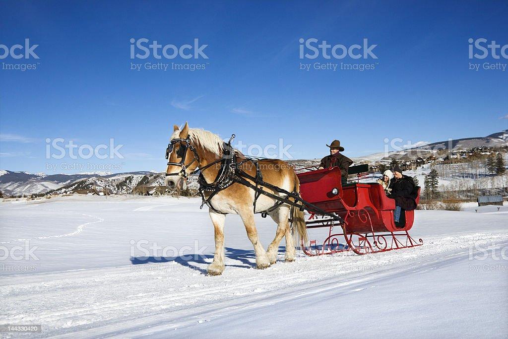 Sleigh ride. royalty-free stock photo